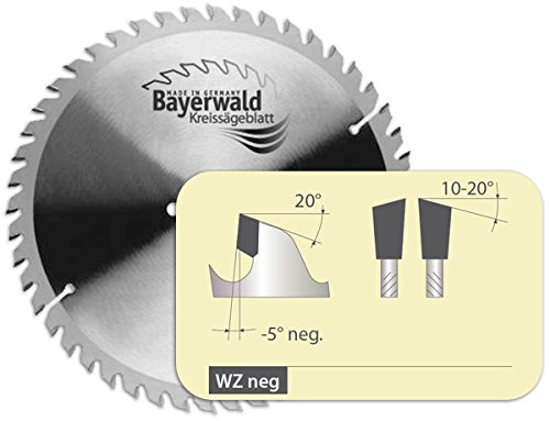 Bayerwald - HM Kreissägeblatt für Holz - Ø 205 mm x 2.8 mm x 18 mm | WZ negativ (24 Zähne) | für Kapp- & Gehrungssägen