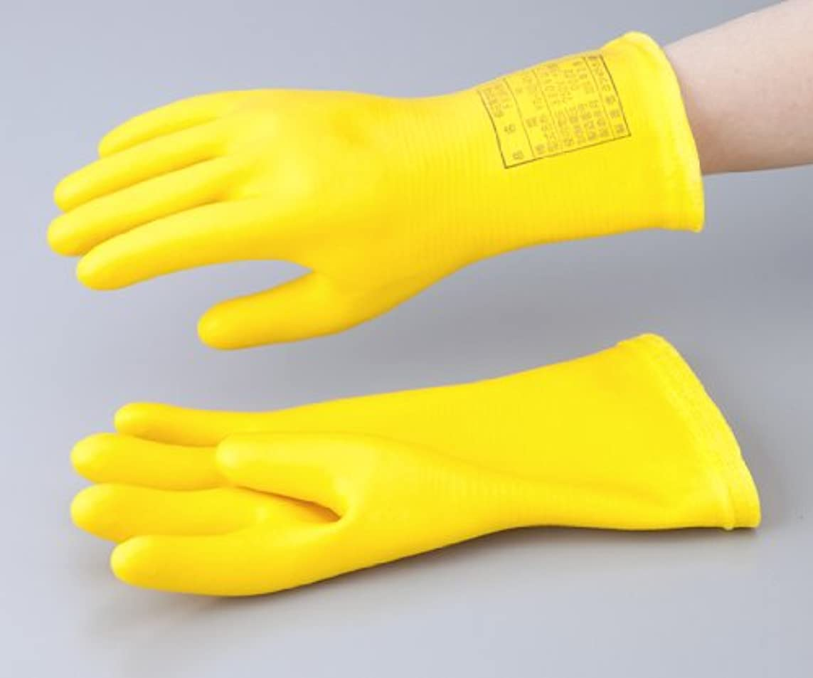 鎮静剤送信する紫の1-3686-03低圧用発泡手袋M