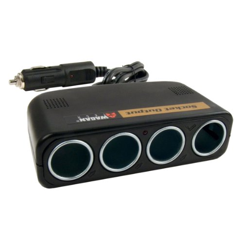 Wagan 4-Way 12V Automotive Socket Splitter and Extender, Cigarette Power Splitter