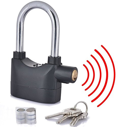 Cpixen Anti Theft Burglar Pad Alarm Lock with Motion Sensor Security Home Office and Bike Bicycle Shop, Multicolour