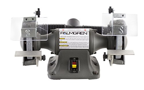 Palmgren 82602 1/3HP, 115/230V POWERGRIND Bench Grinder with Dust Collection, 6-Inch