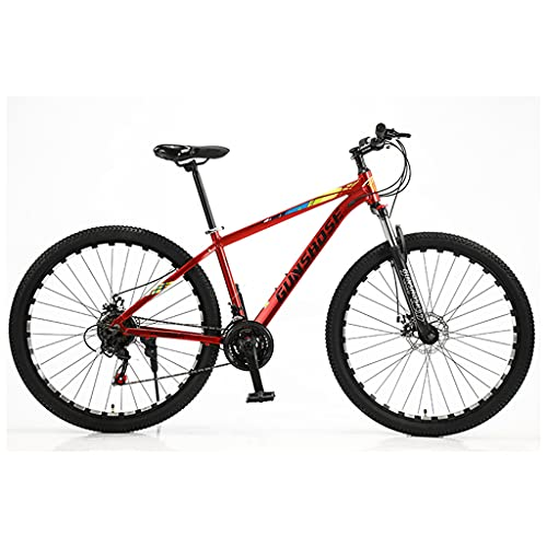 LHQ-HQ Bicicleta De Montaña para Adultos, Rueda De 29', 24 Velocidades, Suspensión De Horquilla, Marco De Aleación De Aluminio, Bicicletas MTB Adecuadas para Una Altura De 5.5 A 6.5 Pies