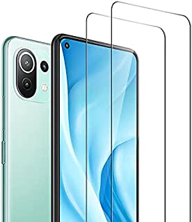 AFGLOOY 2 Pack, Compatible with Xiaomi Mi 11 Lite 4G & 5G Screen Protector, Tempered Glass for Mi 11 Lite, 9H Scratch Resi...