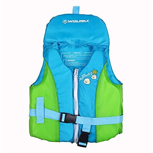 OldPAPA Giubbotto da Nuoto Bambini, Gilet da Nuoto Protezione per la Testa Disegno Assistenza al Nuoto Giubbotto Galleggiante per Ragazzi 20-75 lbs (Blu L)