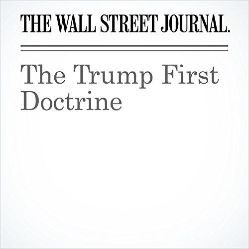 The Trump First Doctrine copertina