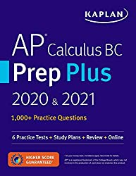 professional AP Calculus BCPrep Plus 2020 and 2021: 6 Practical Tests + Curriculum + Overview + Online (Kaplan…