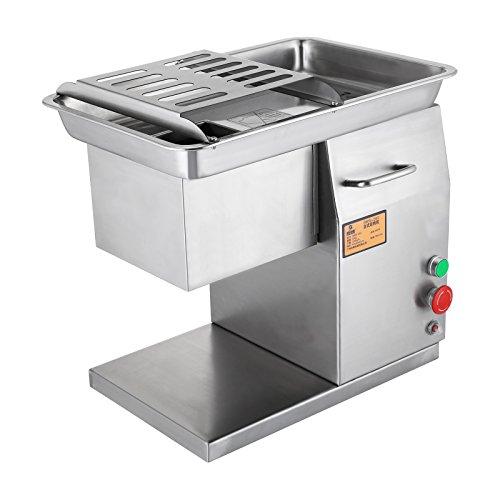 Ambesten Commercial Meat Slicer Fleisch Slicer 550LB / H 550 Watt Edelstahl Frischfleisch Cutter 3mm Schneidmesser Elektrische Fleisch Schneidemaschine für Restaurant (550LBS/H)