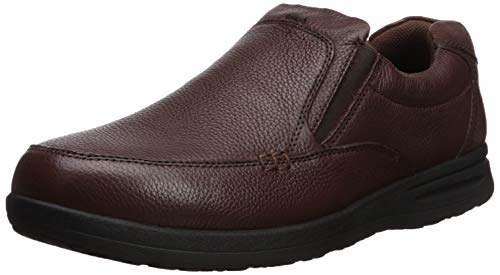Nunn Bush Men's Cam Slip-On Lightweight Comfortable Casual Loafer, Brown Tumbled, 10