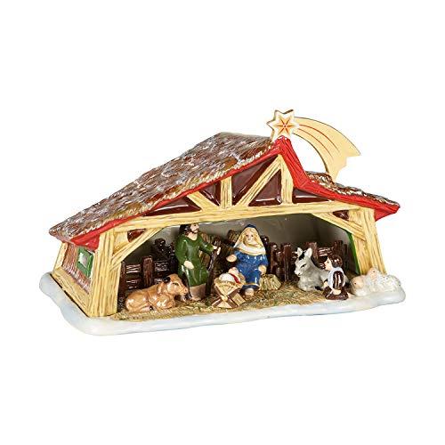 Villeroy & Boch Christmas Toy's Belén Memory Decorativo para el árbol de Navidad, hard porcelain, varios colores, 27 x 16 x 16 cm