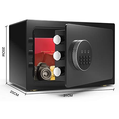 YPEZ Caja De Seguridad Electrónica De Acero, Caja Fuerte Digital De Oro, Caja De Seguridad para Proteger Pasaportes, Joyas, Dinero(Color:Noble Negro)