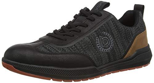 bugatti Herren Dollar Eco Sneaker, schwarz, 46 EU