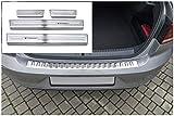 tuning-art L385-XF502-4 Protección Parachoques y de umbral para VW Passat B8 FL Sedán, Color:Plata