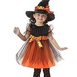 ZZM Halloween-Kleid für Kleinkinder, Kinder, Baby-Kostüm, Tutu, Party, Schleife, gepunktet,...