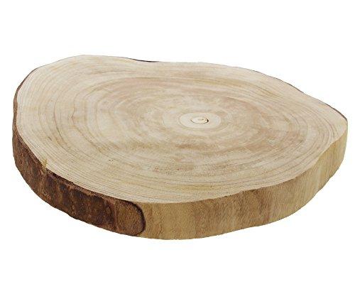 FRANK FLECHTWAREN Baumscheibe Wood Ø 40 x 5 cm Paulownia-Holz naturbelassen
