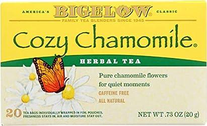 Bigelow Cozy Chamomile Herbal Tea Bags, 20 ct