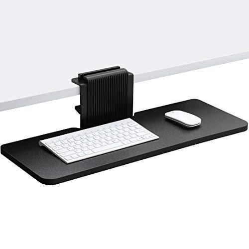 JENOSWEIN キーボードトレイ クランプ式 コンピューターキーボードトレイ マウス収納対応 簡易インストール 後付け