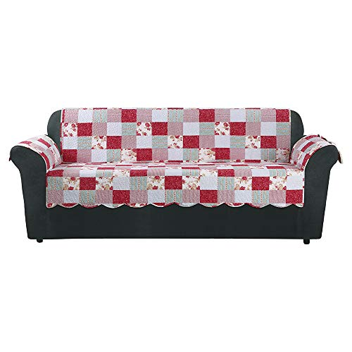 SureFit  Heirloom Quilted Sofa Pet/Slipcover with Arms, Cottage Patchwork