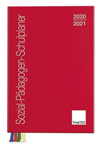 TimeTEX Sozial-Pädagogen-Schulplaner A5-Plus 2020/2021, rot