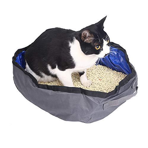 Fushida - Arenero Plegable para Gatos con asa