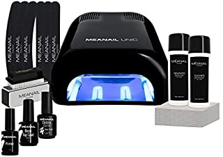Lampara LED UV Secador de Uñas Esmalte Semipermanente Pintauñas Decoración de Uñas Kit Manicura y Pedicura Nail Factory Edition Basic Black
