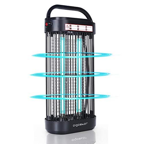 UV Lampe Desinfektion UVC Desinfektionslampe Luftreiniger LED 18W Metall Schalter für Schlafzimmer Büro Hotel Wohnung Schwarz