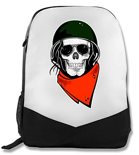 Skull Rider Helmet Bandana Swag Series Rucksack