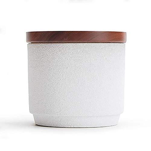 Tanque de Almacenamiento Sellado Portátil Recipientes de té Latas de almacenamiento de alimentos con tapa, a prueba de humedad de almacenamiento latas de té, bolsitas de té, latas de té retro (Color: