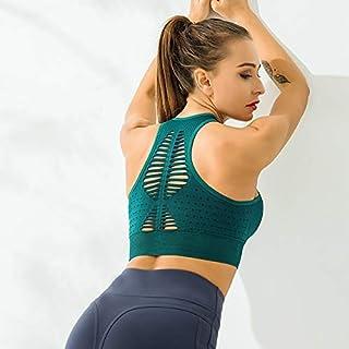 Women's Sexy Strappy Sports Bra Workout Seamless Yoga Fitness Running Beauty Back Vest Sports Underwear zhengpingpai