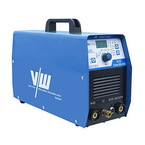 AC DC WIG Schweißgerät mit Elektrodenschweißfunktion und Plasmaschneider 200 Ampere   HF-Zündung - 2 und 4 Takt - Einstellbare Schweißparameter von Vector Welding