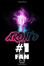 """Aron's #1 Fan: Nu'est Glowing Lightstick 120 Page 6 x 9"""" Lined Notebook Kpop L.O.Λ.E Fandom Merch Journal Book"""