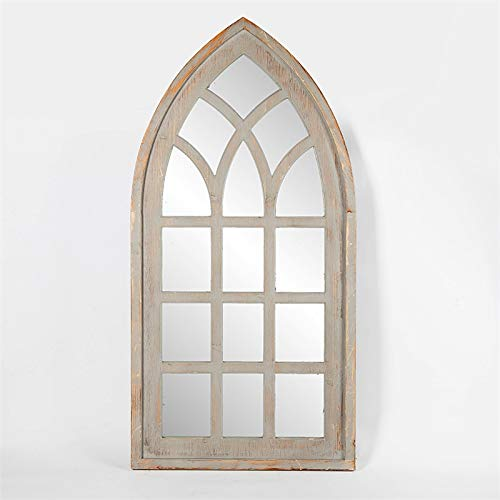 Pemberly Row Luxen Home Cathedral Window Wall Mirror