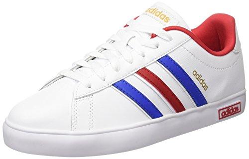 adidas Herren Derby Vulc Skaterschuhe, Weiß/Blau/Goldfarben (Ftwbla/Azul/Dormat), 39 1/3 EU