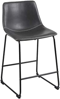 a21580d3caf Phoenix Home Malaga Faux-Leather Counter-Height Bar Stool