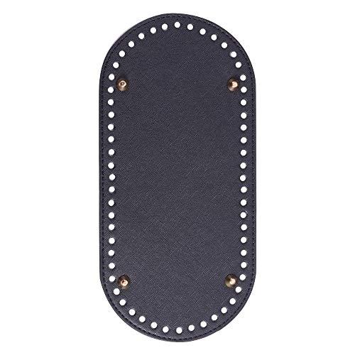 Bolsas de ganchillo de POFET DIY para hacer manualidades, 25 x 12 x 0,4 cm, color negro