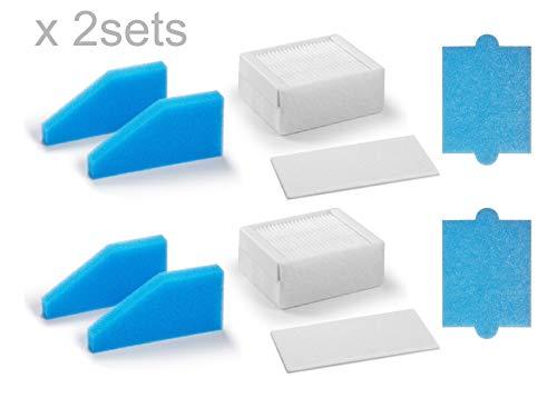 Supremery 2X Filter Set 5-teilig geeignet für Thomas Staubsauger der Baureihe Aqua+,Alternative für Thomas Filterset 99 (Teile-Nr. 787241), Ersatzteil Filter