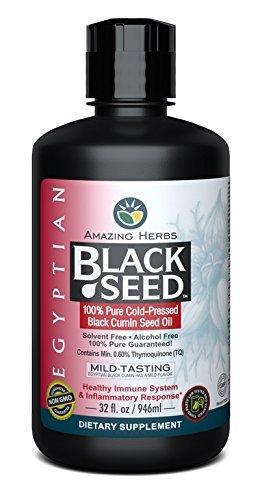 Amazing Herbs Egyptian Black Seed Oil - 32 Ounces