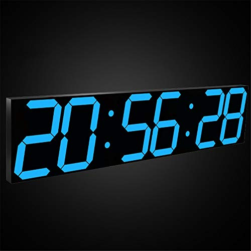 GOCF Cuenta Regresiva LED Reloj Pantalla Jumbo con Control WiFi Control Timer Timer Multifunción 6.3'Digital Smart Smart Led Wall Clock Dígitos LED LED Relace Clock Temporizador para Eje