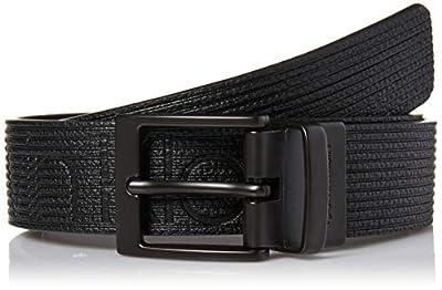 Calvin Klein Boys' Big Reversible Belt, Black/Black, S