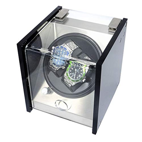 Bdesign Einzel Uhrenbeweger for Automatikuhren, Plattenspieler-Uhr Schmuck Aufbewahrungsbox for die Dame und Mann Uhren