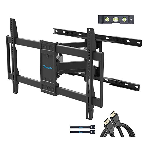 """Rentliv TV Wall Mount TV Bracket for 37-70 inch TVs,Full Motion TV Mount with Articulating Extended Arms Tilt Swivel TV Holder with Max VESA 600x400mm and Holding 132 LBS ,Fits 8"""" 16"""" Wood Studs"""