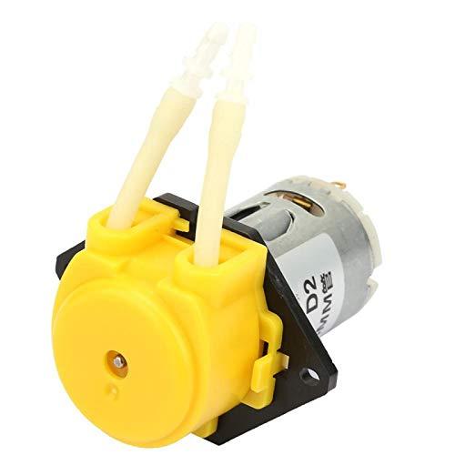 Water Pump Liquid Pump 2 * 4mm Green Dosing Pump for Experiment for DIY(yellow)