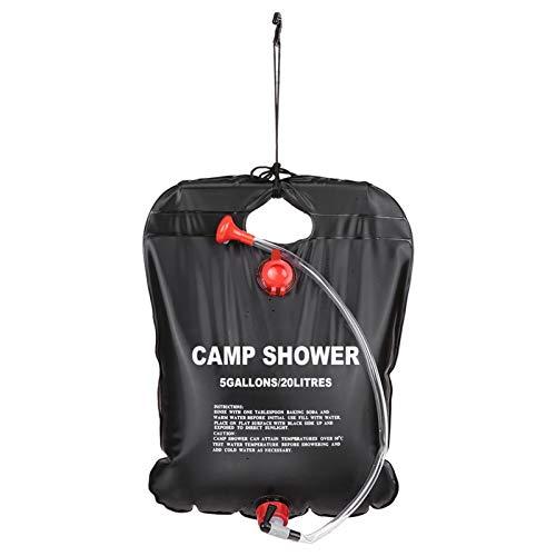 SuoSengHred Campingdusche Solardusche, 20L Solardusche Camping Solar Heizung Solardusche Outdoor Tragbare Camping Dusche Tasche mit Duschkopf, Outdoor Gartendusche Reisedusche Wassersack zum Faltbar