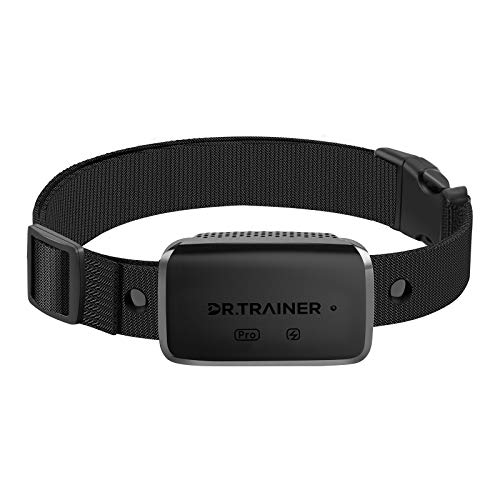 Dr.Trainer B1sPro Bark Collar with APP& Smart Watch Control, Waterproof Dog Bark Collar with Barking Record, Humane Custom Settings and Progressive Mode Rechargeable Dog Shock Collar