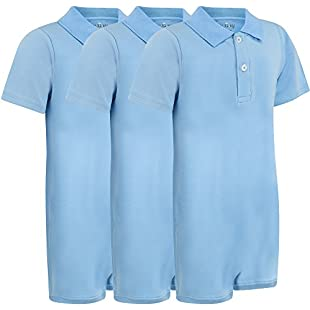 Customer reviews Special Needs Clothing for Older Children (5-16 yrs old) - POLO Bodysuit for Boys & Girls by KayCey - BLUE (Pack of 3) (15-16 years old)