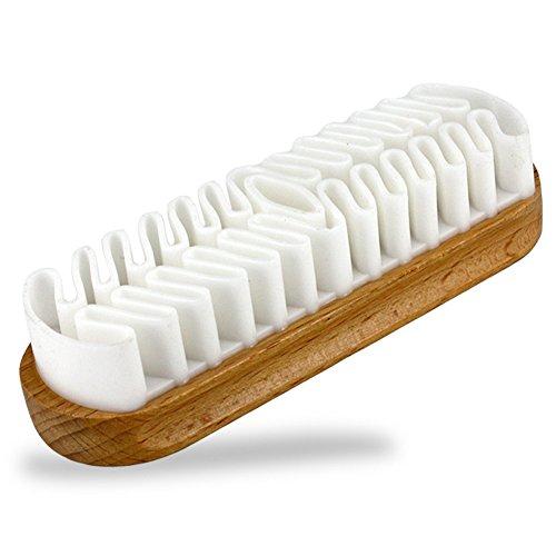 EQLEF Cepillo de Gamuza, Cepillo de Gamuza para Limpiar la descontaminación de Calzado/Botas / Accesorios de Gamuza