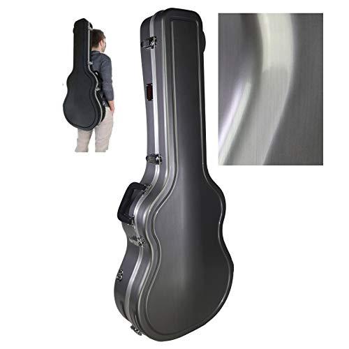 Cibeles ABS-koffer voor klassieke gitaren met vorm (glanzend zilver)