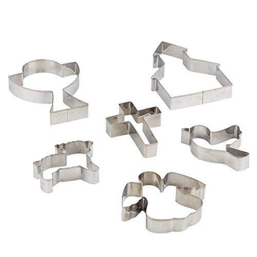 Baptism First Communion and Confirmation Stainless Steel Cookie Cutters, Set of 6