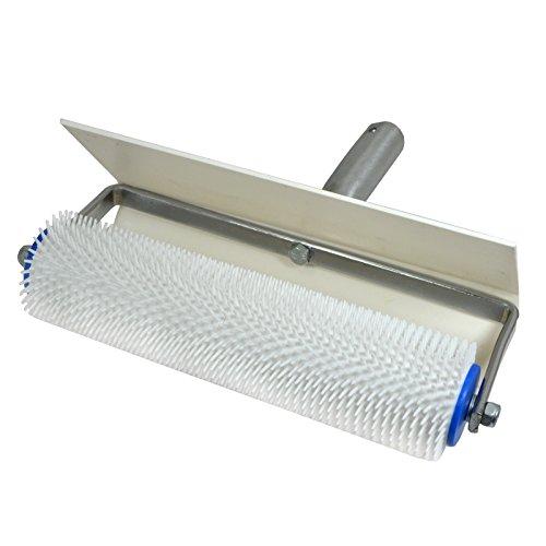 Stachelwalze - Igelwalze - Entlüfterrolle - mit Spritzschutz b= 250mm, l (Stachel) = 11mm - Entlüftungsroller, Entlüftungswalze, Betonentlüfterrolle in Profi-Qualität