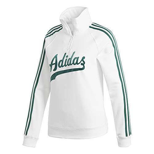 adidas Damen Sweater Sweatshirt, weiß , 32