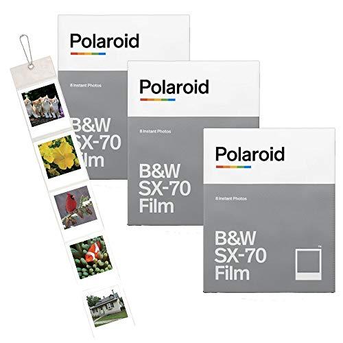Polaroid Originals Tripla confezione di istantanee SX70B & W (24scatti) + album da parete incluso